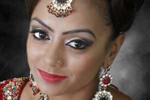 Bridal services-hairstyle-makeup